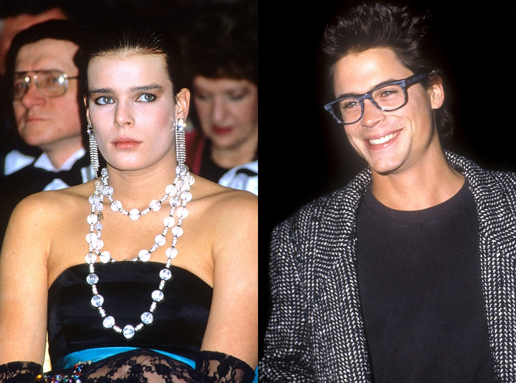 Rob Lowe & Princess Stéphanie from Celebs Who've Dated Royals