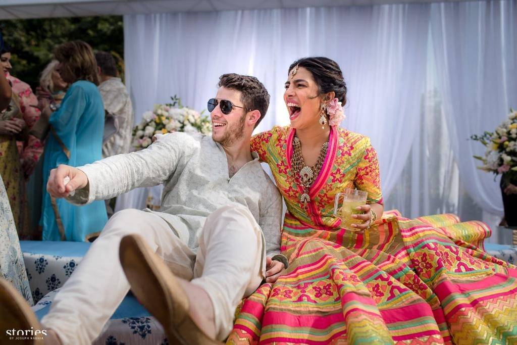 Presenting the Bride and Groom-to-Be -  Priyanka and Nick celebrate with their guests at their Mehendi ceremony.