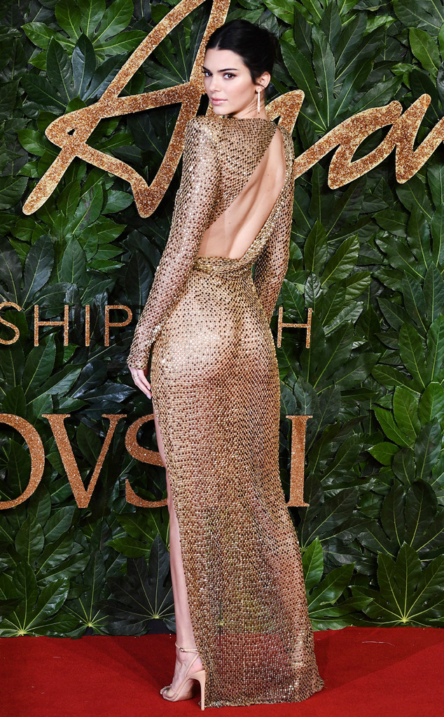 Kendall Jenner Is Near Naked on the Red Carpet at the British Fashion Awards 2018