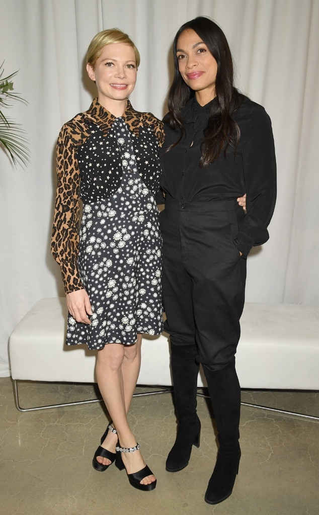Meatpacking District -  Actresses  Michelle Williams  and  Rosario Dawson  attend Forevermark Diamonds Females In Focus photo exhibition event.