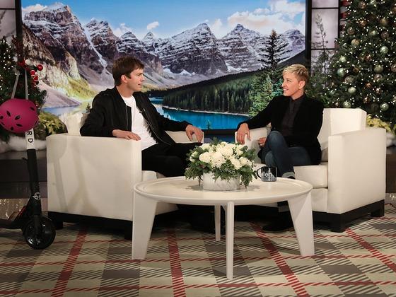 "Ellen DeGeneres' Parenting Joke Gives Ashton Kutcher a ""Complex"""