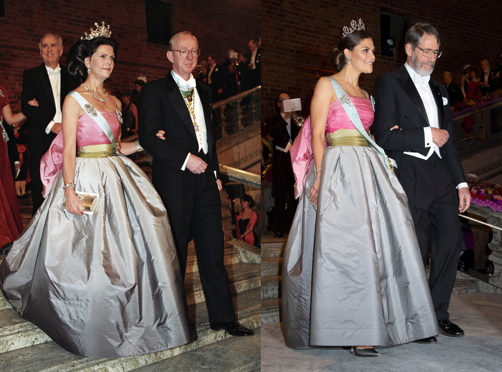 Princess Victoria Wears Mom Queen Silvias Dress 23 Years Later E