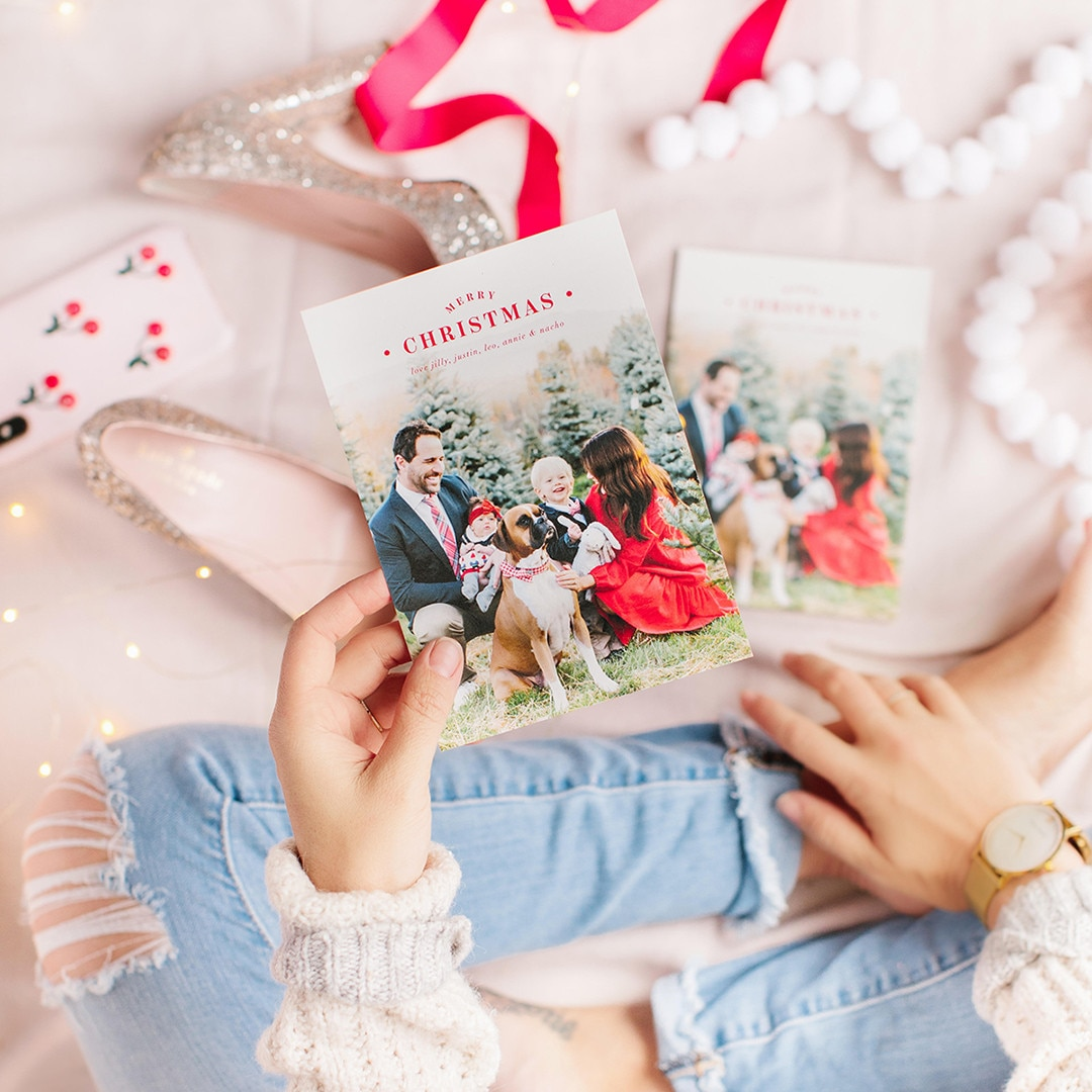 "Jillian Harris -  ""Every year I love our @minted holiday cards more and more!!""  The Bachelorette  star shared on  Instagram  when revealing this year's card."
