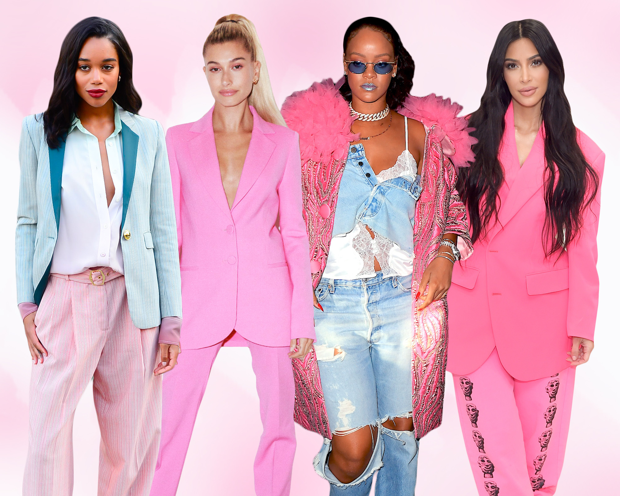 Kim Kardashian and More Celebs Prove Pink Is the Color of the Year