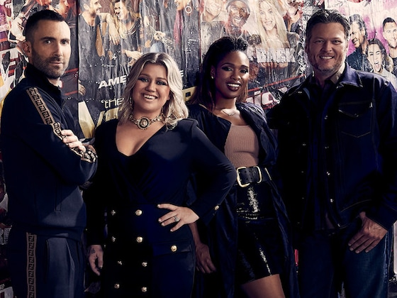 <I>The Voice</i> Coaches Join Jimmy Fallon and The Roots for a Must-Listen A Cappella Mashup of Their Hits</I>