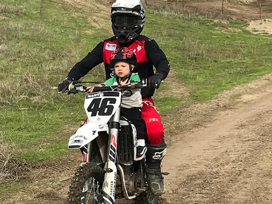 """Carey Hart Delivers Message to """"Parent Police"""" After Letting 23-Month-Old Son Ride Dirt Bike"""