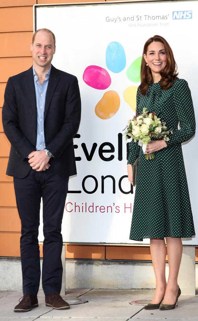 Prince William, Kate Middleton, Evelina London Children's Hospital Visit