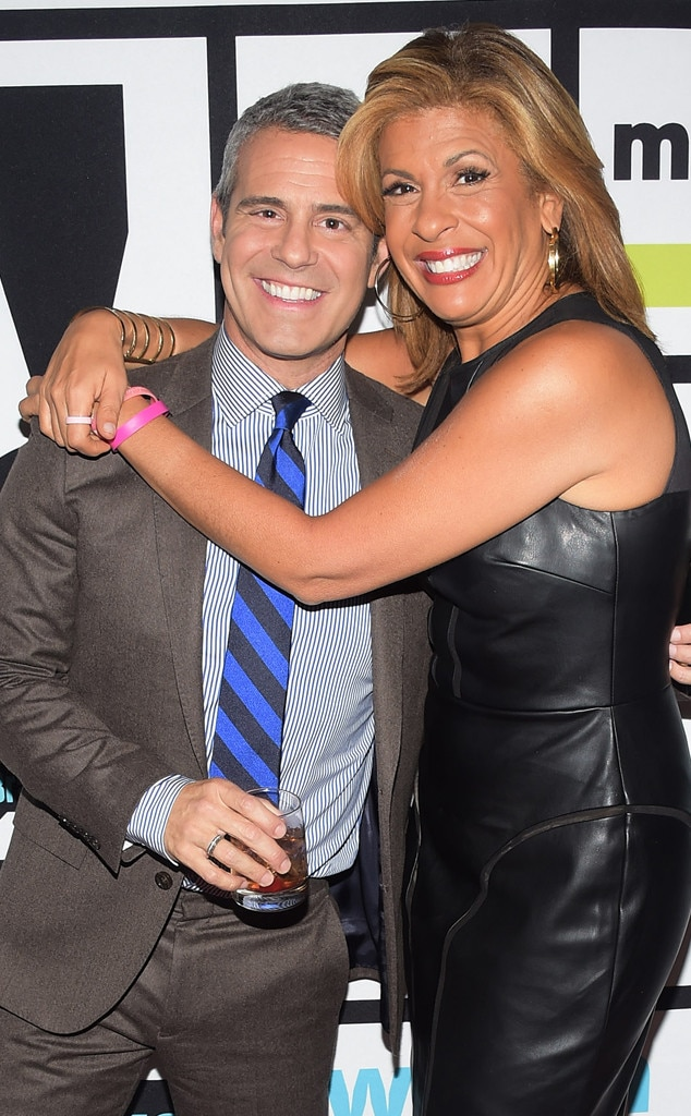 Andy Cohen -  They both love pop culture and both have their own radio shows. And while Andy is swamped with  Watch What Happens Live  and keeping the  Real Housewives  happy, we're more than happy with the possibility of a co-host gig.
