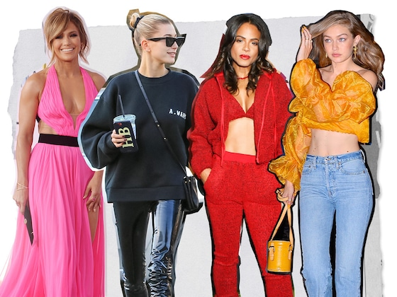 2018's Best Celebrity Fashion Trends From Jennifer Lopez, Gigi Hadid and More