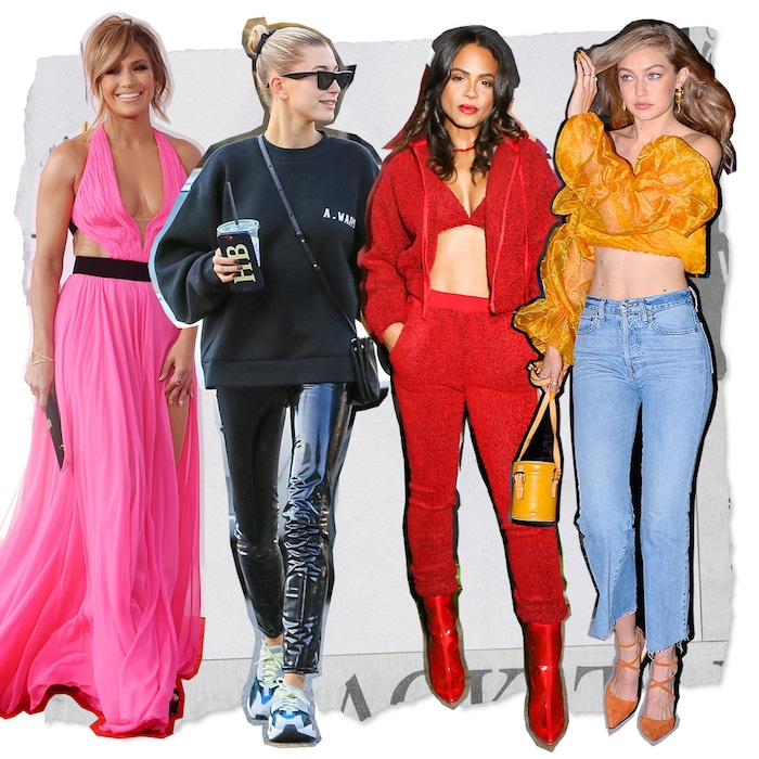 65ee27a401e6 2018's Best Celebrity Fashion Trends From Jennifer Lopez, Gigi Hadid and  More | E! News
