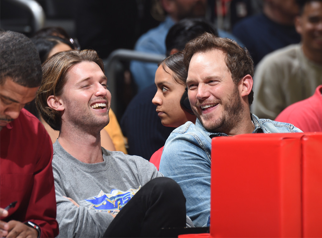 Patrick Schwarzenegger, Chris Pratt, Clippers Game