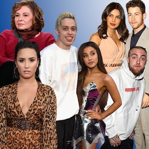 Roseanne Barr, Demi Lovato, Pete Davidson, Ariana Grande, Priyanka Chopra, Nick Jonas, Mac Miller