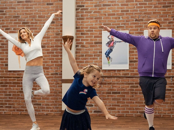 "Aw! Gisele Bündchen and James Corden Learn ""Toddlerography"" From the Cutest Instructors"