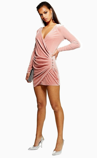 fffb8d34 BUY IT: Sequin Fringe Bandeau Dress, $190 at Topshop