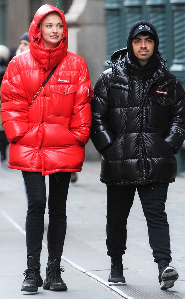 Sophie Turner and Joe Jonas Snuggle up in Coordinating Winter Looks