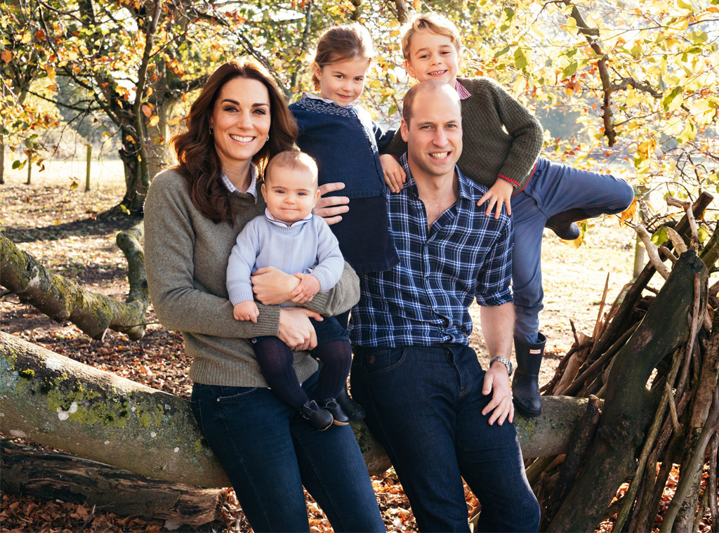 Rugby Prince William, Kate Middleton, Princess Charlotte, Prince George, Prince Louis, Family Portrait
