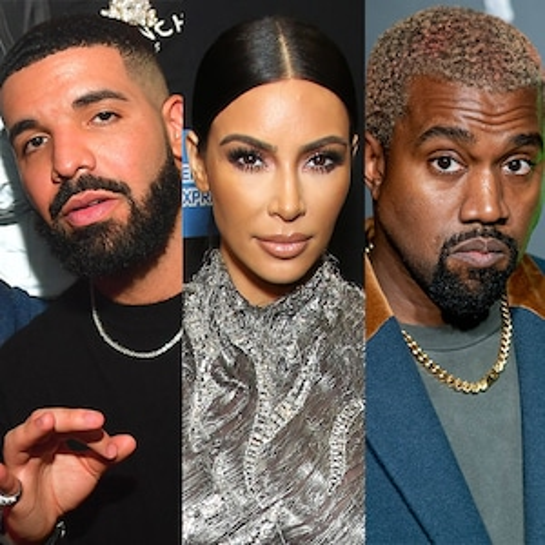 Drake, Kim Kardashian, Kanye West