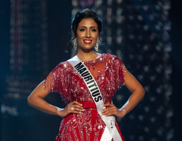 miss mauritius from miss universe 2018 evening gown. Black Bedroom Furniture Sets. Home Design Ideas