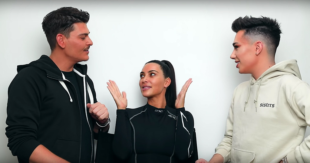 Kim Kardashian, James Charles, Mario Dedivanovic, YouTube