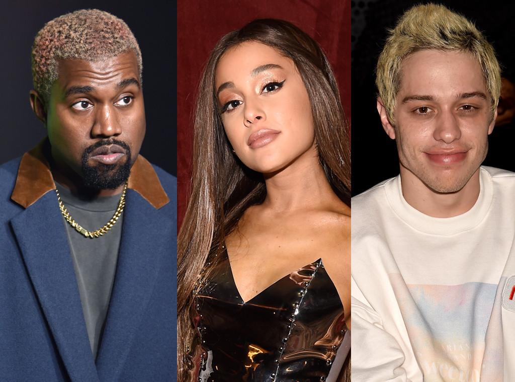 Kanye West, Ariana Grande, Pete Davidson