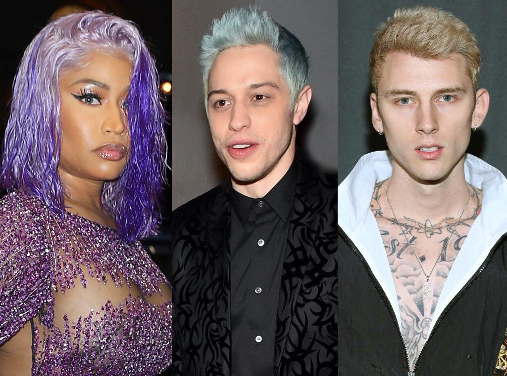 Machine Gun Kelly, Nicki Minaj, Pete Davidson
