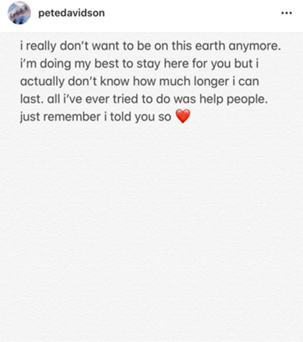 Pete Davidson, Alarming Message, Instagram