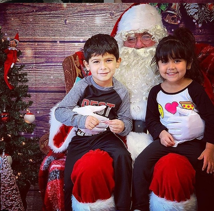 All I want for Christmas -  Lorenzo and Giovanna told Santa Claus what they wanted this year.