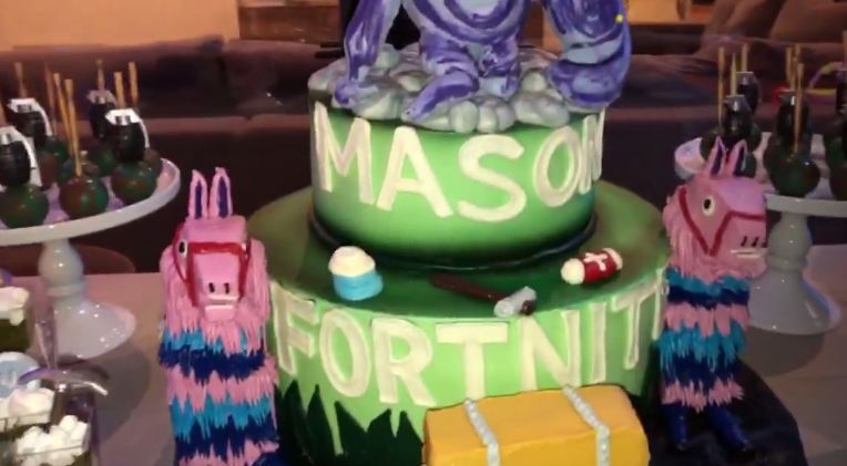 Inside Mason Disicks Epic Fortnite Themed Birthday Party