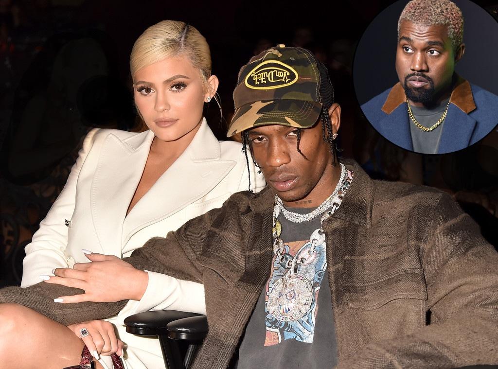Travis Scott, Kanye West, Kylie Jenner