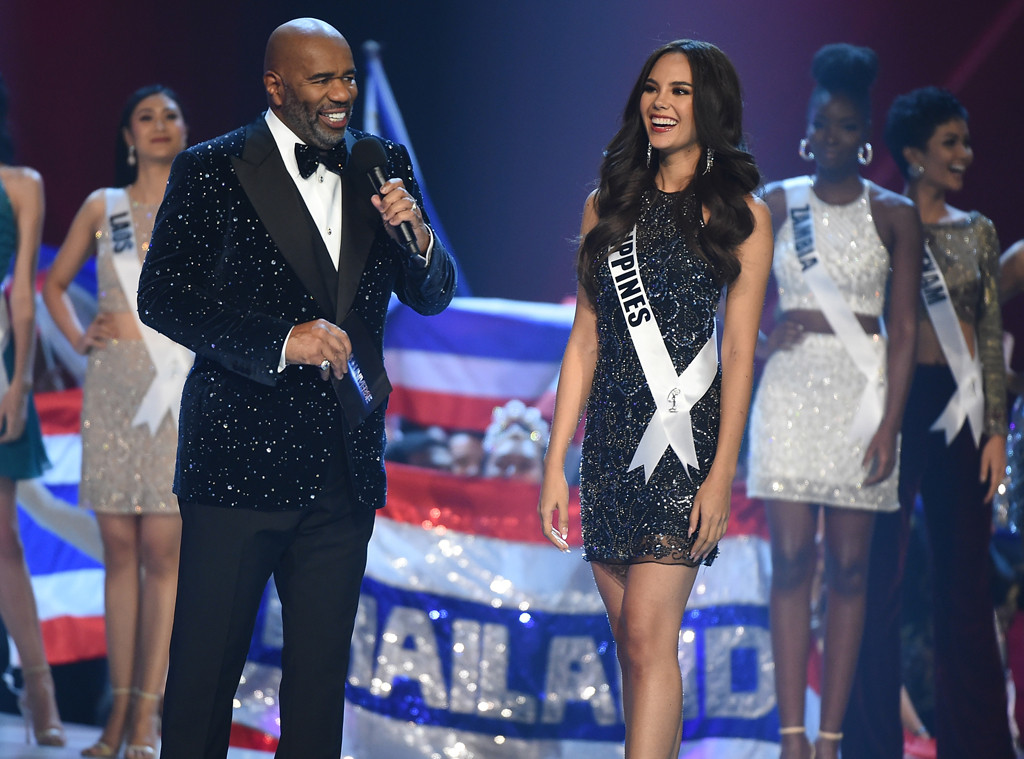 Steve Harvey, Cartiona Gray, Miss Universe 2018