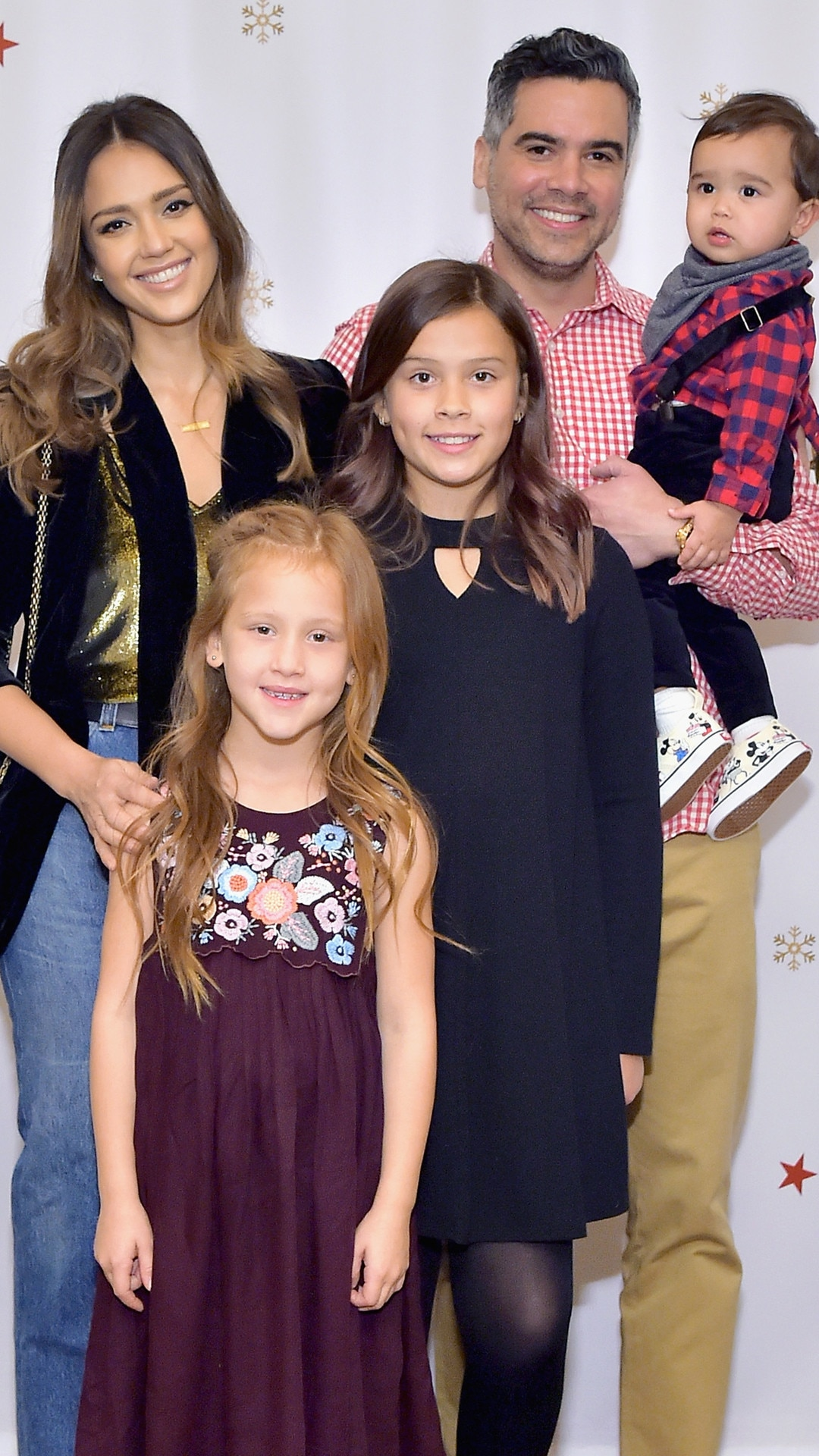 Jessica Alba -  The actress made the Baby2Baby Holiday Party presented by FRAME a family occasion by bringing along her family-of-five.