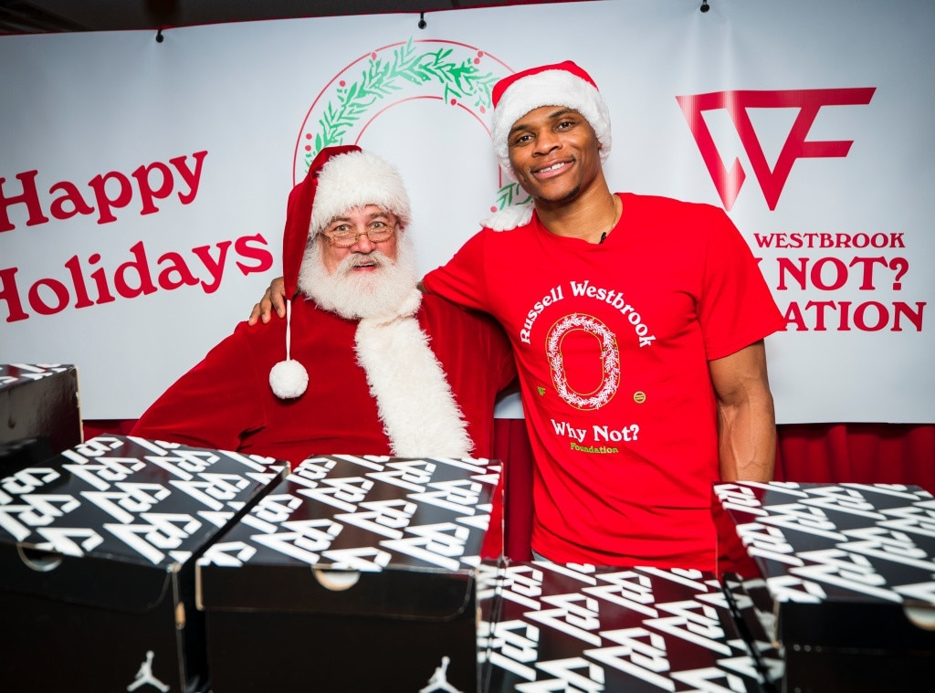 Russell Westbrook - The NBA stud and his Why Not? Foundation host their annual Christmas Party for 350 students at the Urban League of Greater Oklahoma City.