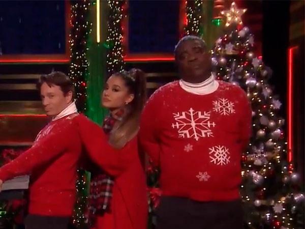 Ariana Grande Helps Reenact Classic <i>SNL</i> Skit Days After Pete Davidson's Alarming Note