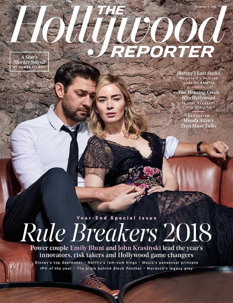 Emily Blunt, John Krasinski, The Hollywood Reporter, cover, December 2018