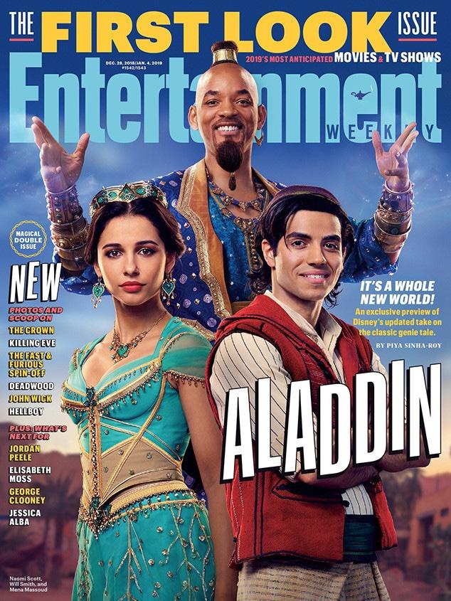 Aladdin, Will Smith, Naomi Scott, Mena Massoud