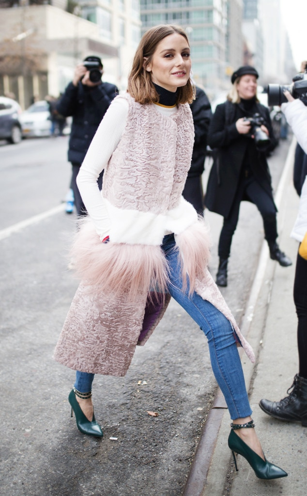 Olivia Palermo From Best Celeb Street Style From Nyfw Winter 2018 E News