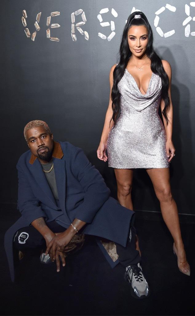 Kim Kardashian, Kanye West, Versace Show