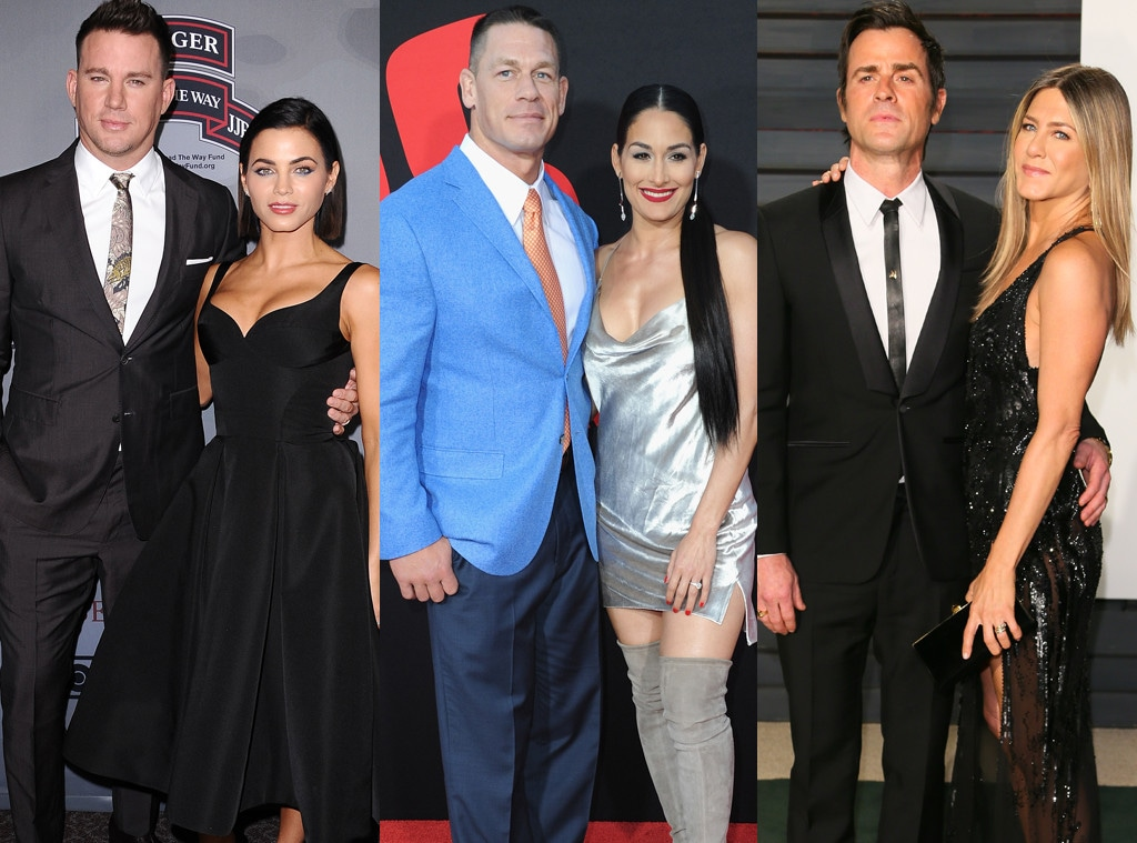 Channing Tatum, Jenna Dewa, John Cena, Nikki Bella, Justin Theroux, Jennifer Aniston