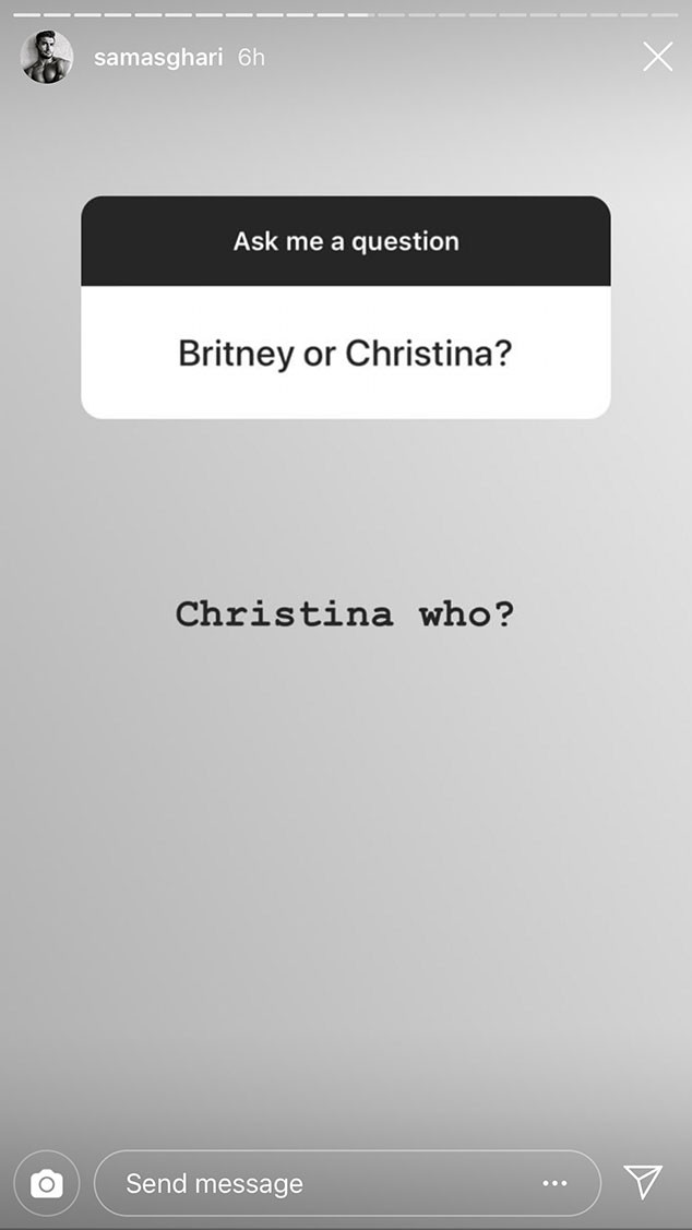 Sam Asghari, Christina Aguilera, Instagram