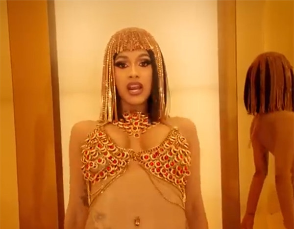 Photos Video Cardi B Gets New Tattoo After 10 Years: Cardi B Strips Down Naked In NSFW Money Music Video