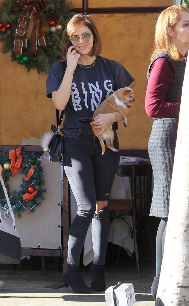 Katharine McPhee -  Kat with a dog!