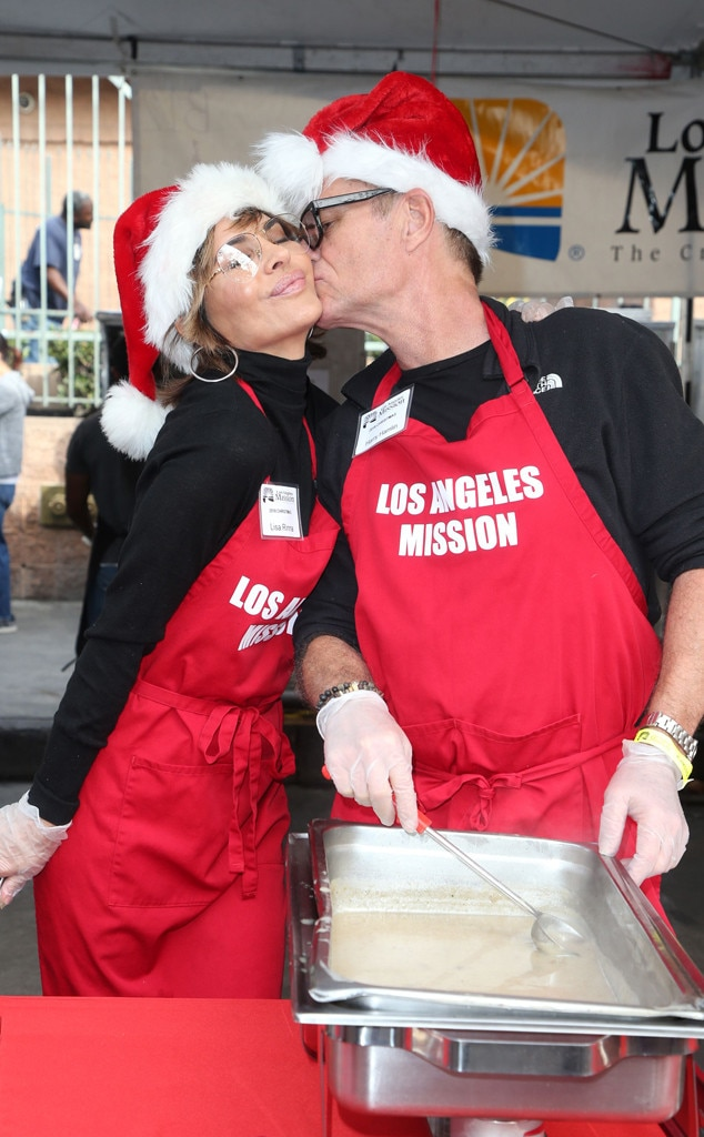 Lisa Rinna, Harry Hamlin, Los Angeles Mission Christmas Event