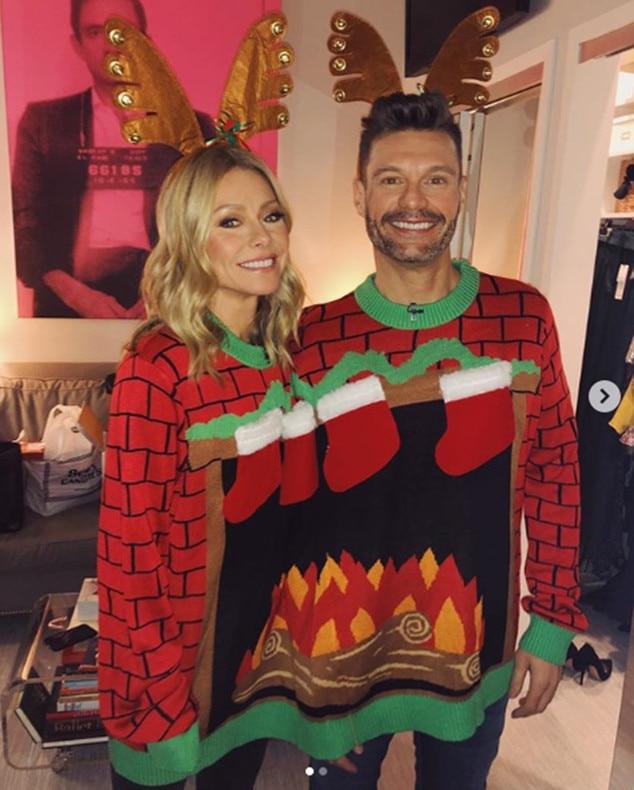 Ryan Seacrest, Kelly Ripa, Christmas 2018