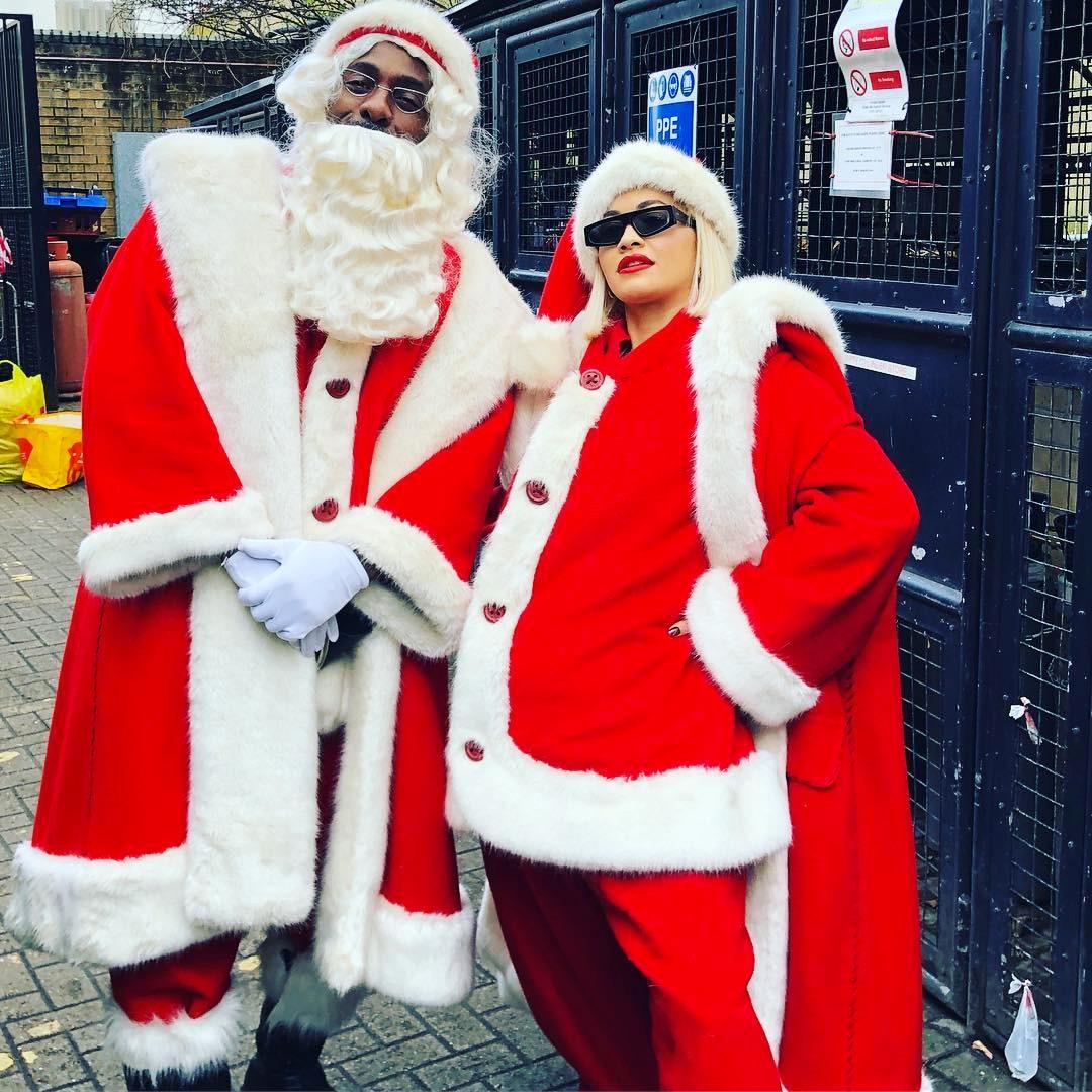 Idris Elba, Rita Ora, Santa, Christmas 2018