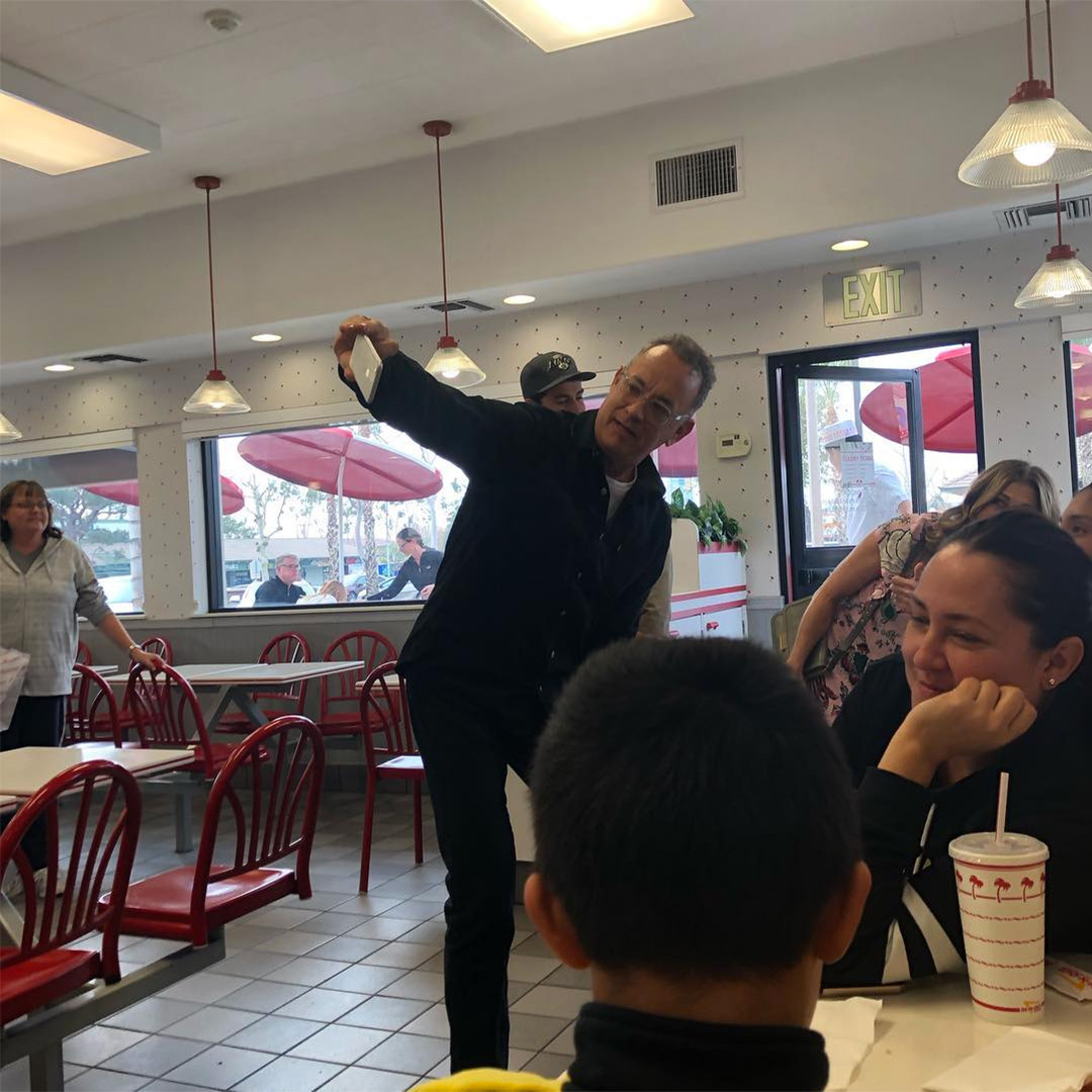 Tom Hanks Stops At In-N-Out Burger, Then Stuns Fans By ...