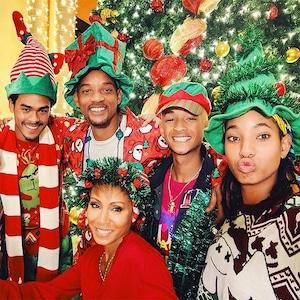 Will Smith, Jada Pinkett Smith, Trey Smith, Willow Smith, Jaden Smith, Christmas 2018