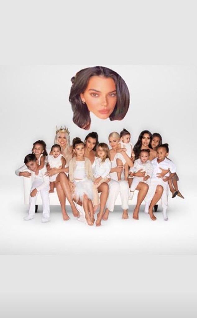 Kendall Jenner, Instagram, Kardashian Family Christmas Card