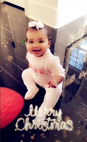 True Thompson, Instagram, Christmas 2018