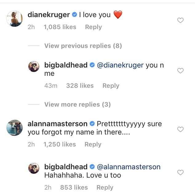 Norman Reedus, Diane Kruger, Instagram, Christmas 2018