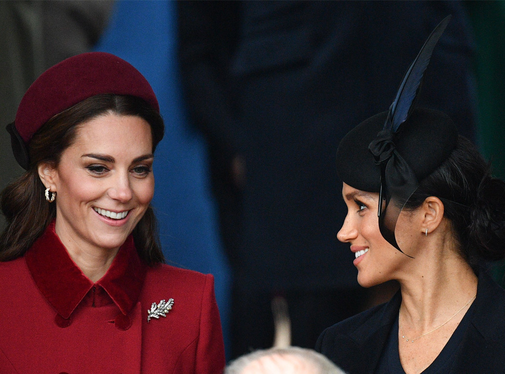 meghan markle and kate middleton share a laugh on christmas e online meghan markle and kate middleton share